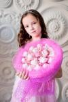 Букет из мягких игрушек хрюшек (розовый)