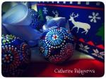Елочные игрушки *Новогодние ромашки*. 5 шт.