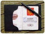 Обложка кожаная для паспорта *Геометрия Севера*