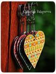 Брелоки Сердечки деревянные