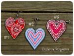Подвески Сердечки деревянные