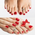 Серебряное кольцо на палец ноги