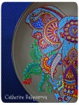 Тарелка стеклянная *Слон Индии*