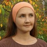 повязка на голову персиковая
