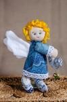 Текстильные ангелочки с сердечком