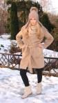 Шапка-шлем  женская зимняя «Клеопатра» из собачьей шерсти .