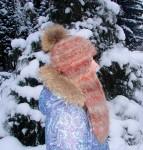 Шапка-шлем  женская зимняя «Клеопатра-3» из собачьей шерсти .