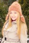 Шапка «Золотая Фея» женская ручного вязания из собачьей шерсти.
