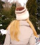 Шапка женская вязанная «Savage» из собачьей шерсти.