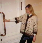 Жакет  женский  вязанный «Теплая Рысь» из собачьей шерсти .