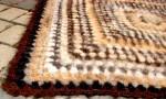 Плед вязанный из собачьей   шерсти 105х105.