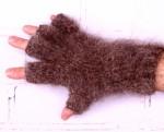 Перчатки-митенки из собачьей шерсти «Суровый Дворник».