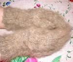 Варежки  из собачьей шерсти «Серый волк».