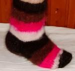 Носки «Радуга Жизни» из собачьей шерсти .