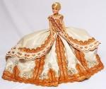 Исторический костюм на кукле Барби. Коронационное платье Елизаветы Петровны. 25 апреля (6 мая) 1742
