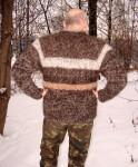 Кардиган мужской «Уссурийск» из собачьей шерсти.