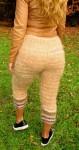 Штаны кашемировые женские  вязаные из собачьей шерсти .