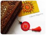 Кулоны-подвески круглые деревянные *Красно Солнышко*