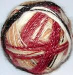 Пряжа целебная «Радуга-1» дизайнерская  для ручного вязания .