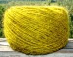 Пряжа «БШС желтый» 145м/100гр из собачьей шерсти.