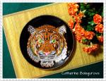 Тарелка стеклянная *Тигр*