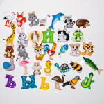 Алфавит из фетра с игрушками
