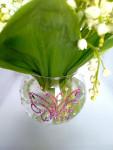 Интерьерная стеклянная ваза для цветов