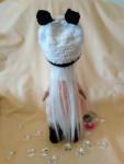 Текстильная кукла снежка