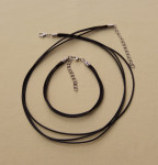 Вощённый шнурок с браслетом (3-х рядные) 1компл. (7 цветов)