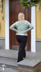 Женский пуловер. Ирландское кружево.