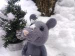 Мышка с шишкой